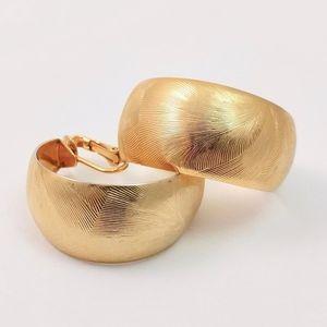 Vintage Gold tone Oversized Hoop Earrings